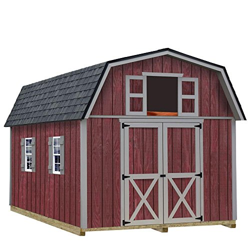 Best Barns Woodville 10 ft. x 12 ft. Wood Storage Shed Kit with Floor including 4x4 Runners