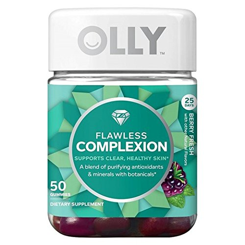 Olly Flawless Complexion Healthy Skin, Berry Fresh, 50 Gummies (Pack of 2)