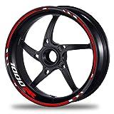 FELGENRANDAUFKLEBER passend für Honda CBR 1000 RR Felgenaufkleber Moto GP Style (Motiv 4V)
