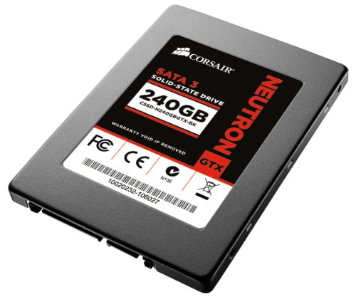 Corsair CSSD-N240GBGTX-BK Neutron Series GTX interne SSD-Festplatte 240GB (6,4 cm (2,5 Zoll), SATA III) schwarz