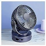 Duradero USB Clip Fan 4 Gear Wind Handheld Mini Fan Night Light Outdoor Baby Stroller Desktop Clip Fan Conveniente (Color : Blue)