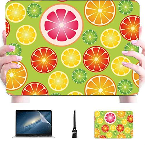 Carcasa para computadora portátil Papel Tapiz Transparente Frutas cítricas Ilustración Vectorial Carcasa rígida de plástico Compatible con Mac Air 13'Pro 13' / 16'Funda rígida para Macbook Pro Cubi