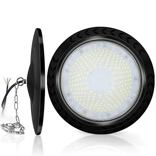 Lámpara industrial LED UFO de 100 W, 10.000 lm, ultrafina, IP65, resistente al agua, lámpara de taller, iluminación industrial (1 unidad)