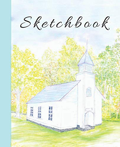 Cute Color Pencil Palmer Church in the Mountains Sketchbook for Drawing Coloring or Writing  Journal (Cool Creative Right Brain Brainstorming Journals, Band 5)
