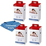 4 Boxes Canon KP-108IN 3 Color Ink and 108 Sheets 4 x 6 Paper Glossy for SELPHY CP1300, CP1200, Compact Photo Printer