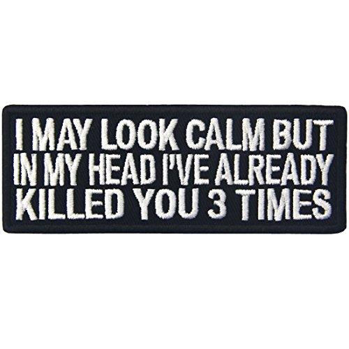 Puedo mirar la almeja pero en mi cabeza le he matado ya 3 veces Parche Bordado de Aplicacin con Plancha