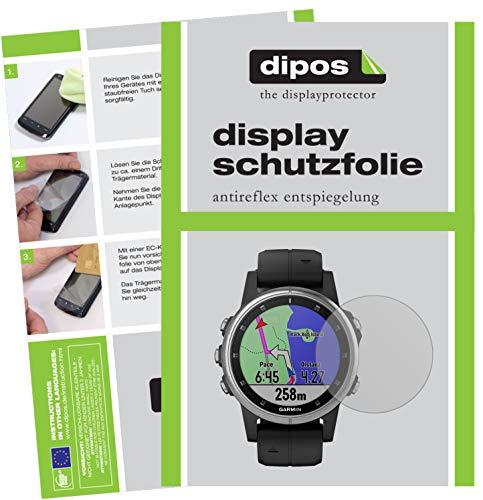dipos I 6X Schutzfolie matt kompatibel mit Garmin Fenix 5s Plus (42mm) Folie Bildschirmschutzfolie