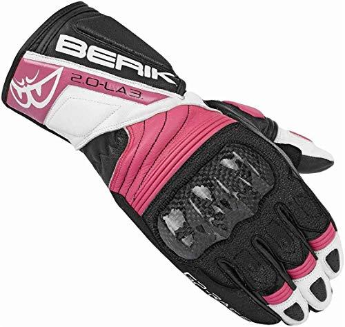 Berik Zoldar Damen Motorrad Handschuhe XL Schwarz/Pink