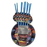 Platos Vajilla Fiesta Conjunto De Globos Con Números Temáticos Happy Birthday Boys Favors Flags Party Decorations Baby Shower Party Events, 30Pcs Set