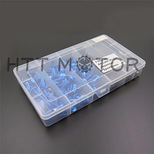 HTTMT MT215-017B- Kit completo de tornillos de carenado compatible con Suzuki Gsxr 600 750 1000 azul