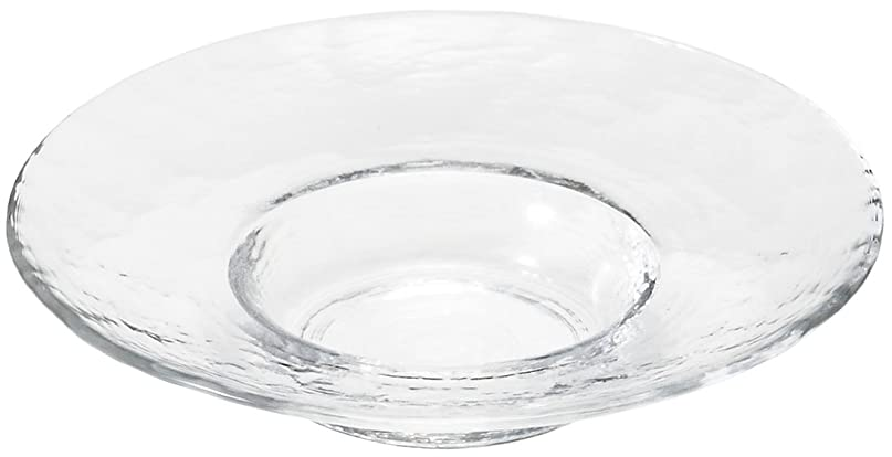 声を出して宮殿花に水をやるアデリア ガラス 皿 クリア 最大19×高4.8cm リムレット アラカルトプレート 日本製 F-49367