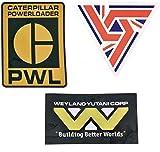 Alien Aufkleber Sammlung Weyland Yutani, USCSS Nostromo UK7 und PWL Caterpillar Powerloader PVC Aufkleber 3er Pack