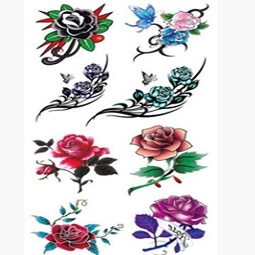 Tatuajes de tatuajes temporales falsos tatuajes de la flor universal belleza calcomanía etiqueta engomada desechable de la belleza para las mujeres hombre