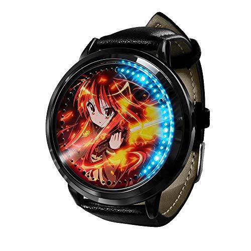 Relojes de Pulsera, Reloj Led de Anime, Reloj de luz Digital con Pantalla táctil Resistente al Agua, Reloj de Pulsera Unisex, Accesorios de Cosplay, Regalo Nuevo
