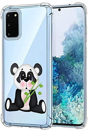 Suhctup Silikonhülle kompatibel mit Oppo A52 / A72 / A92, transparente Schutzhülle mit Panda-Motiven, Soft TPU Gel Bumper Slim Crystal Full Body Stoßfest Case für Oppo A52