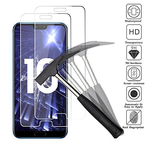 ANEWSIR Huawei Honor 10 Verre trempé, Honor 10 Film Protection 9H Dureté, Installation Simple sans Bulles, Anti Rayures, Haute Définition, Protecteur d'écran pour Huawei Honor 10 (5.84') - [2 pièces]