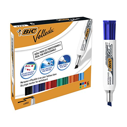 Bic 875788 Velleda pennarelli per lavagna bianca, confezione con 6 pezzi,  multicolore