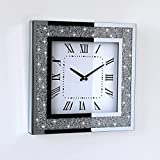 Gatsby Bling Glass Wall Clock Filled with...