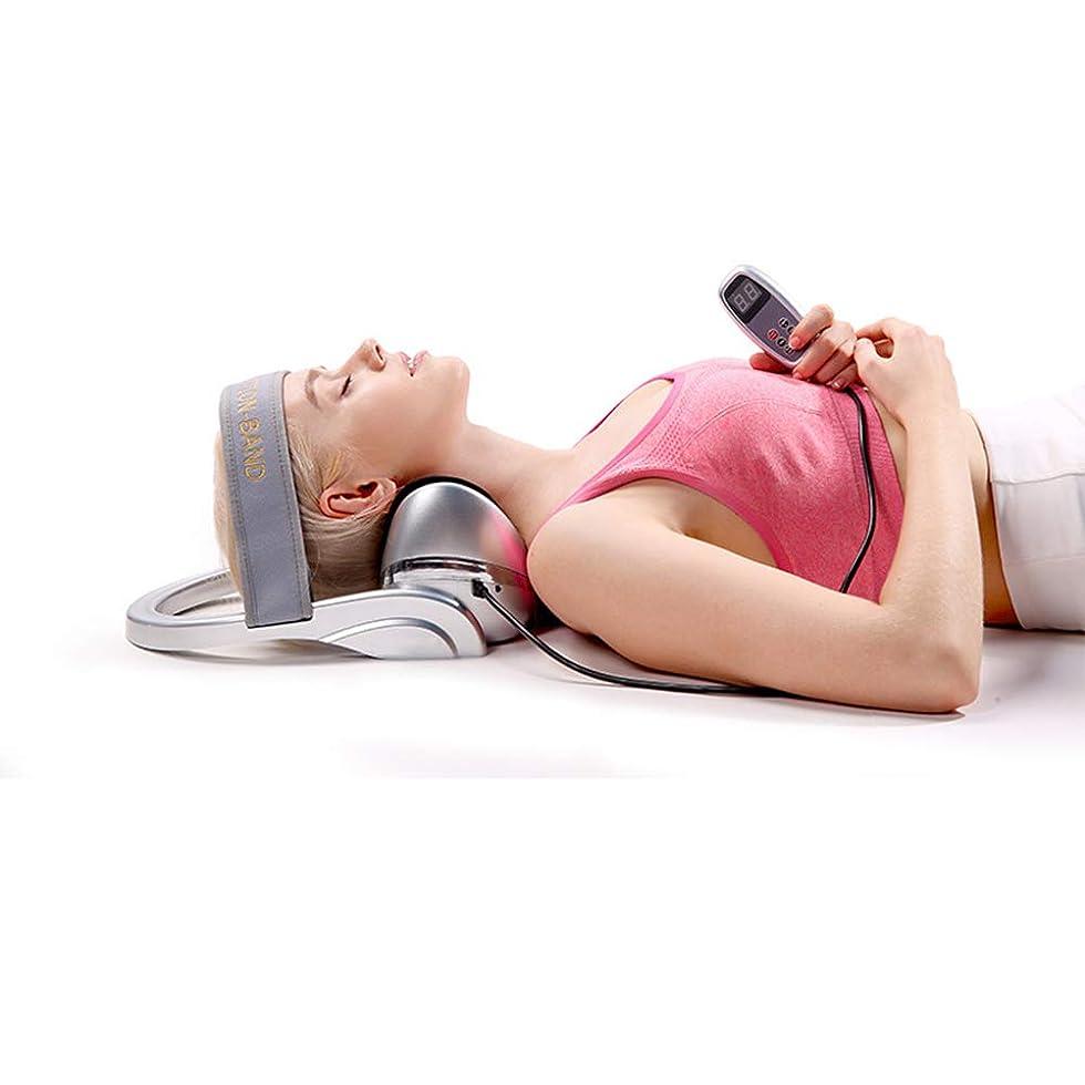 辞任欲しいです脊椎多機能エアバッグスクイーズド頸部マッサージャー-赤外線加熱/首部保護加熱は頸部疲労を軽減します,銀