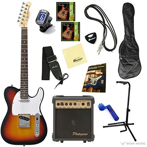 【初期調整済みですぐ弾ける!】 Bacchus バッカス BTE-1 オリジナル エレキギターセット テレキャスタータイプ (3TS)