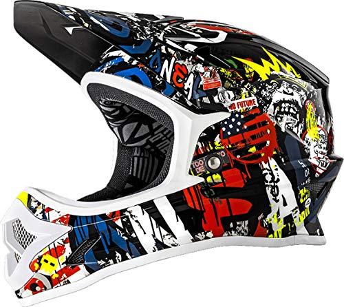 O'NEAL Backflip RL2 Rancid DH Fahrrad Helm schwarz/weiß/Multi 2019 Oneal: Größe: S (55-56cm)