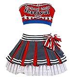 LoveLive! Honoka Kousaka/Ayase Eli/Tojo Nozomi Cheerleaders Uniform Vest Skirt Anime Custom Made (Female XL)