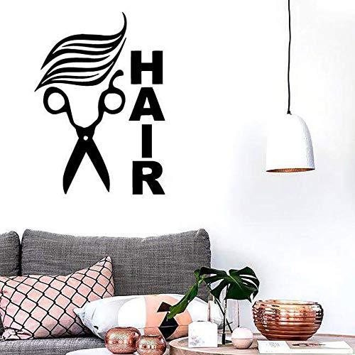 Yaonuli Kapsalon zelfklevende muurstickers vinyl schaar logo kapper kapper kapper woonkamer kapper afneembaar