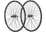 Vuelta 28 Zoll Fahrrad Laufradsatz 622x17 Trekking Sportrad schwarz -HBMT200/FHMT200 schwarz - NIRO schwarz. 36 Loch DISC