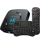 Android Tv Box 10.0, TV Box H616 4GB RAM 64GB ROM 2.4G 5.8G Dual Band WiFi with Bluetooth Converter TV Box Support 3D 4K 6K Ultra HD H.265 with Mini Keyboard Set Top TV Box