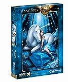 Clementoni- Anne Stokes Collection-Blue Moon Puzzle, 1000 Piezas, Multicolor (39462.3)