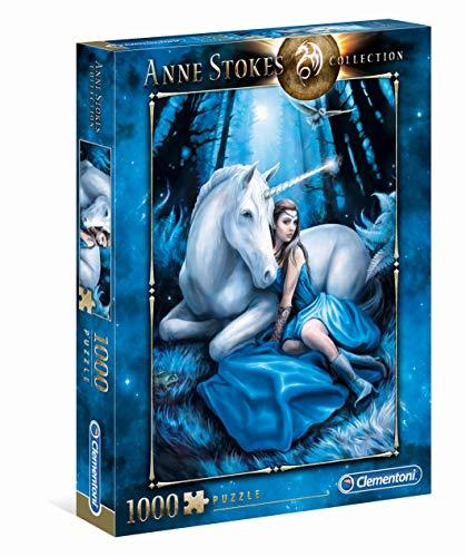Clementoni 39462 Blauer Mond – Puzzle 1000 Teile, Anne Stokes Collection, herausforderndes Geschicklichkeitsspiel für die ganze Familie, Erwachsenenpuzzle ab 9 Jahren