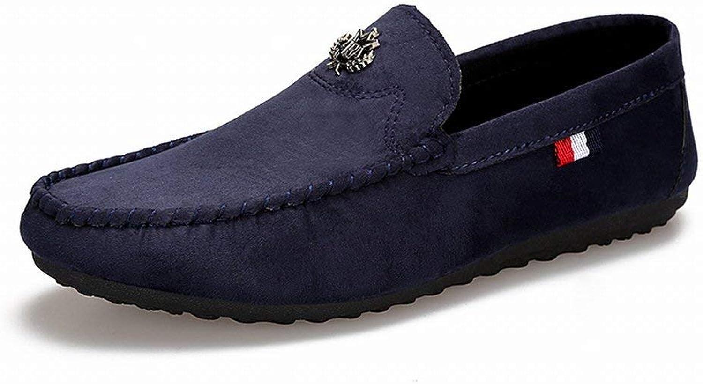 Hhgold Fashion Trend Peas shoes Comfort Breathable Leisure Men's shoes Wear a Pedal Lazy shoes (color   bluee, Size   44)