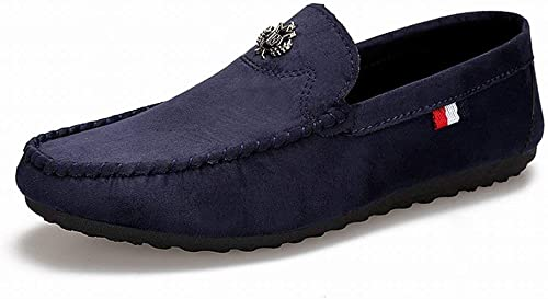 Fuxitoggo Mode-Trend Peas Schuhe Komfort Breathable Freizeit Herrenschuhe Tragen EIN Pedal Faule Schuhe (Farbe   Blau, Größe   42)