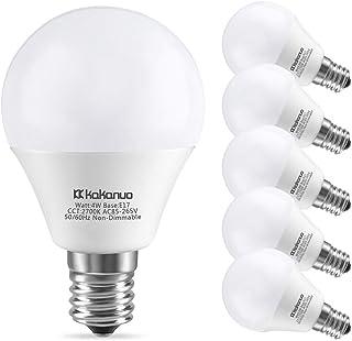 Kakanuo LED電球 E17口金 口金直径17mm 40W形相当 電球色 2700K 400ルーメン 広配光タイプ 高輝度 高演色 長寿命 省エネ 密閉形器具対応 断熱材施工器具対応 PSE認証済み 6個セット
