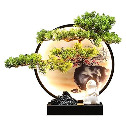 OMING Bonsáis Árbol Artificial Decoración Simulación Bienvenido Pino Árbol Zen Espacio en la Sala de Estar y Oficina Dream Bunny Decoración Árbol Bonsai (Size : A)