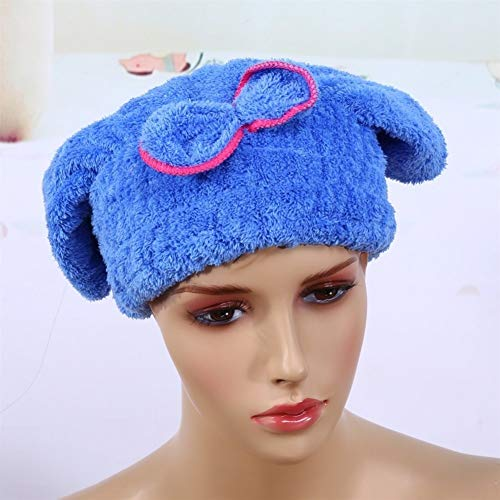No branded Wrap Cap Douche Cheveux Rapide Cheveux séchage Chapeau Microfibre Ultra Absorbent Cheveux Serviette sèche Wrap-Bow Noeud Agrémentée Quick Dry Tour Cheveux (Smell : Rose)