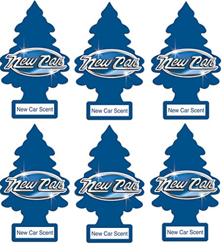 Little Trees 6 New Car Scent Air Freshener, 6 Pack