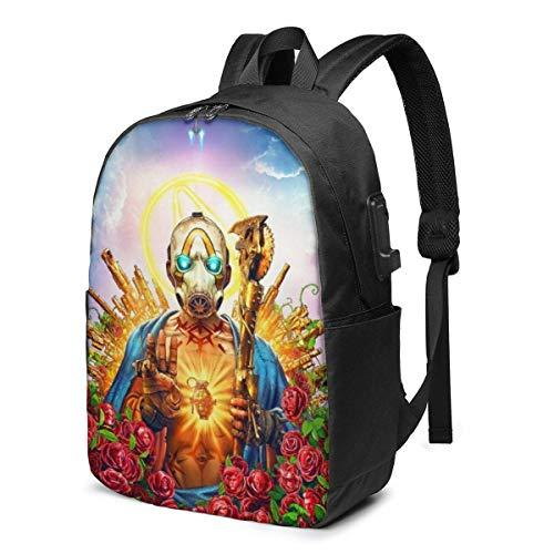 AOOEDM USB Backpack 17 in NoMan 'sLand - Mochila Dorada para computadora...