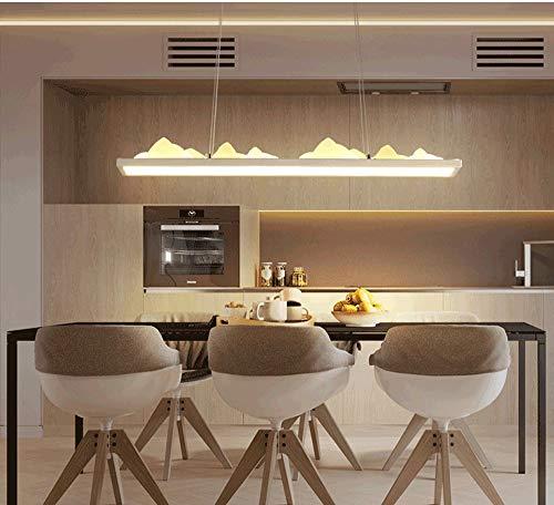 Lampe suspension moderne à LED pour salle à manger, salle à manger, salle à manger, salle à manger, salon, lustre, design rectangulaire en fer, aluminium, lampe en acrylique, blanc chaud, 3000 K 45 W