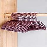 Breiter halbrund nahtloser Kleiderbügel für Erwachsene, Kunststoff, rutschfest, nass und trocken, plastik, purpur, 15.8*7.7IN