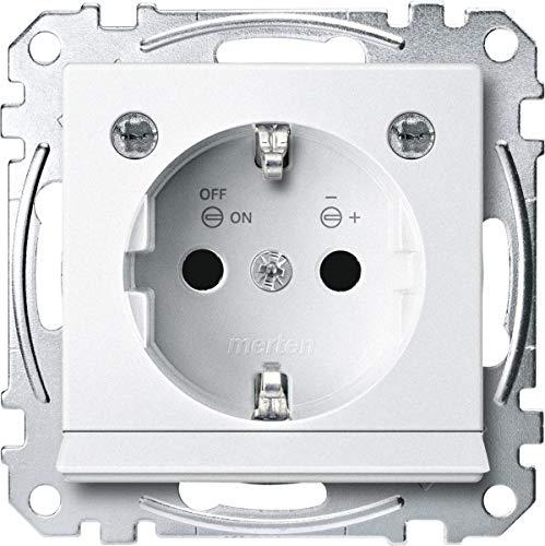 Merten MEG2304-0419 SCHUKO-stopcontact m. Lichtuitl. u. LED-Bel.-module, BRS, StK, Polarws, Sys. M.