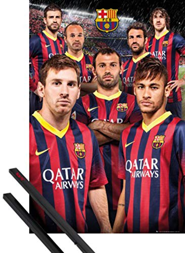 1art1 Fútbol Póster (91x61 cm) Barcelona, Players 13/14 Y 1 Lote De...