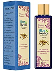 Blue Nectar Ayurvedic Aromatic Bath and Body Massage Oil for Vitamin D absorption (200 ml)