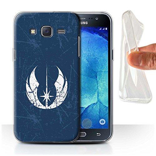 Hülle Für Samsung Galaxy J5/J500 Galaktisches Symbol Kunst Jedi-Befehl Inspiriert Design Transparent Dünn Weich Silikon Gel/TPU Schutz Handyhülle Case
