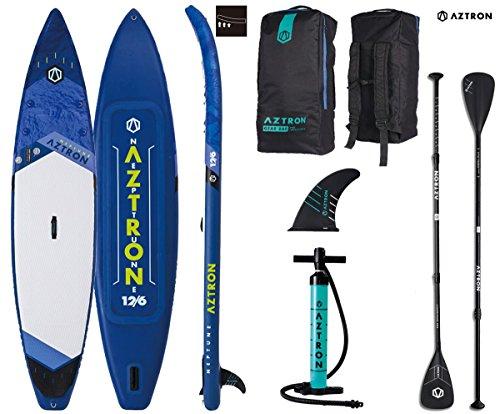 AZTRON Neptune 12.6 Double Sup Stand Up Paddle Board con estilo de aluminio