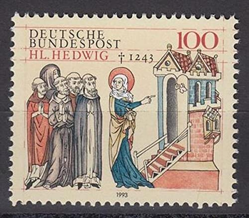 FGNDGEQN Colección de Sellos Alemania 1993 Silesia Von Srizia's Bishop 750 Aniversario 1 Nuevo Sello Extranjero
