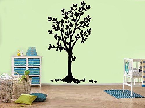47 cm x 80 cm) Tableau dessin fleur Art Sticker Mural en vinyle Motif arbre et oiseaux et fleurs Nature amovibles Art autocollant DIY décoration maison Motif Random cadeau en vinyle inclus