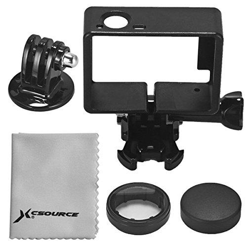 XCSOURCE Protettivo Cornice Frame Laterale + Protettiva Lens + Treppiedi Adattatore per GoPro Hero 3 3+ 4 OS253
