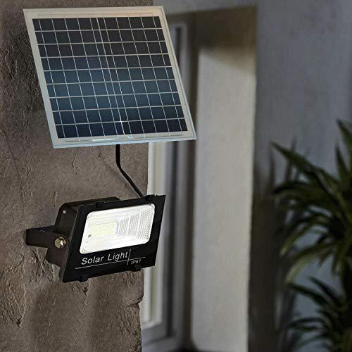 REPLOOD Faro Led Con Pannello Solare Crepuscolare + Telecomando IP67 25W 40W 60W 100W 200W (100)