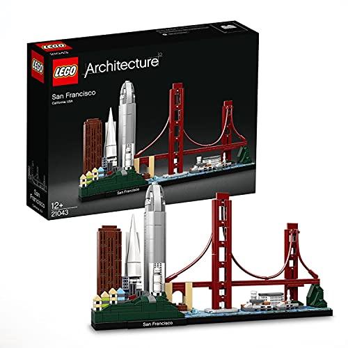 LEGO 21043 Architecture SanFrancisco, avec Le Pont de Golden Gate et île d'Alcatraz, Set de Construction à Collectionner, Idée Cadeau